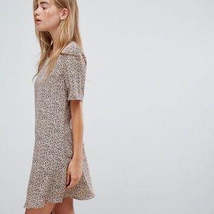 Glamorous Shift Dress in Dalmatian Print